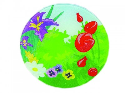 Round Garden Cutting Board